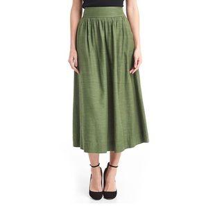 GAP A Line Midi Skirt in Monterey Cypress